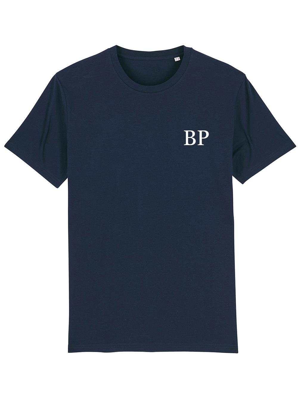 Mens Initial Tshirt – Navy