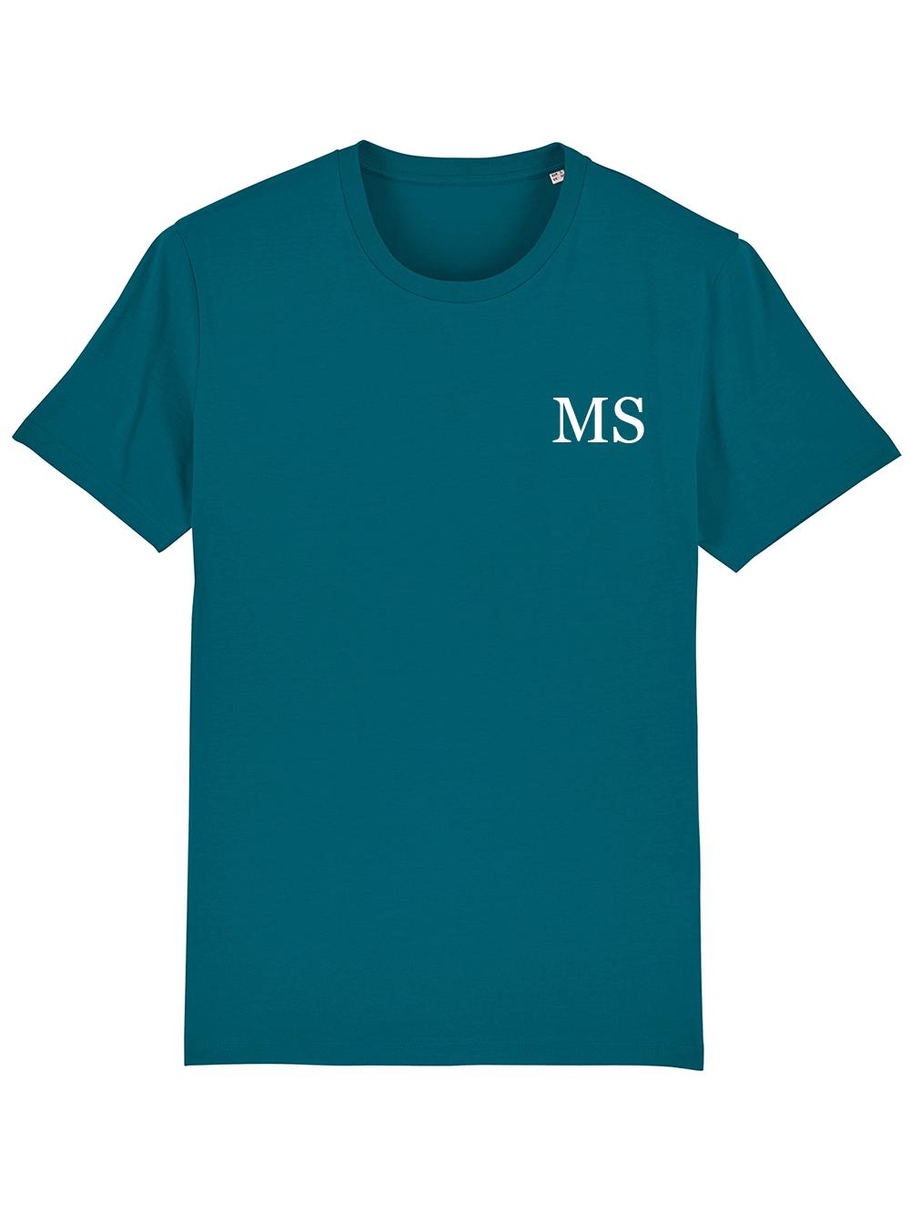 Mens Initial Tshirt – Ocean