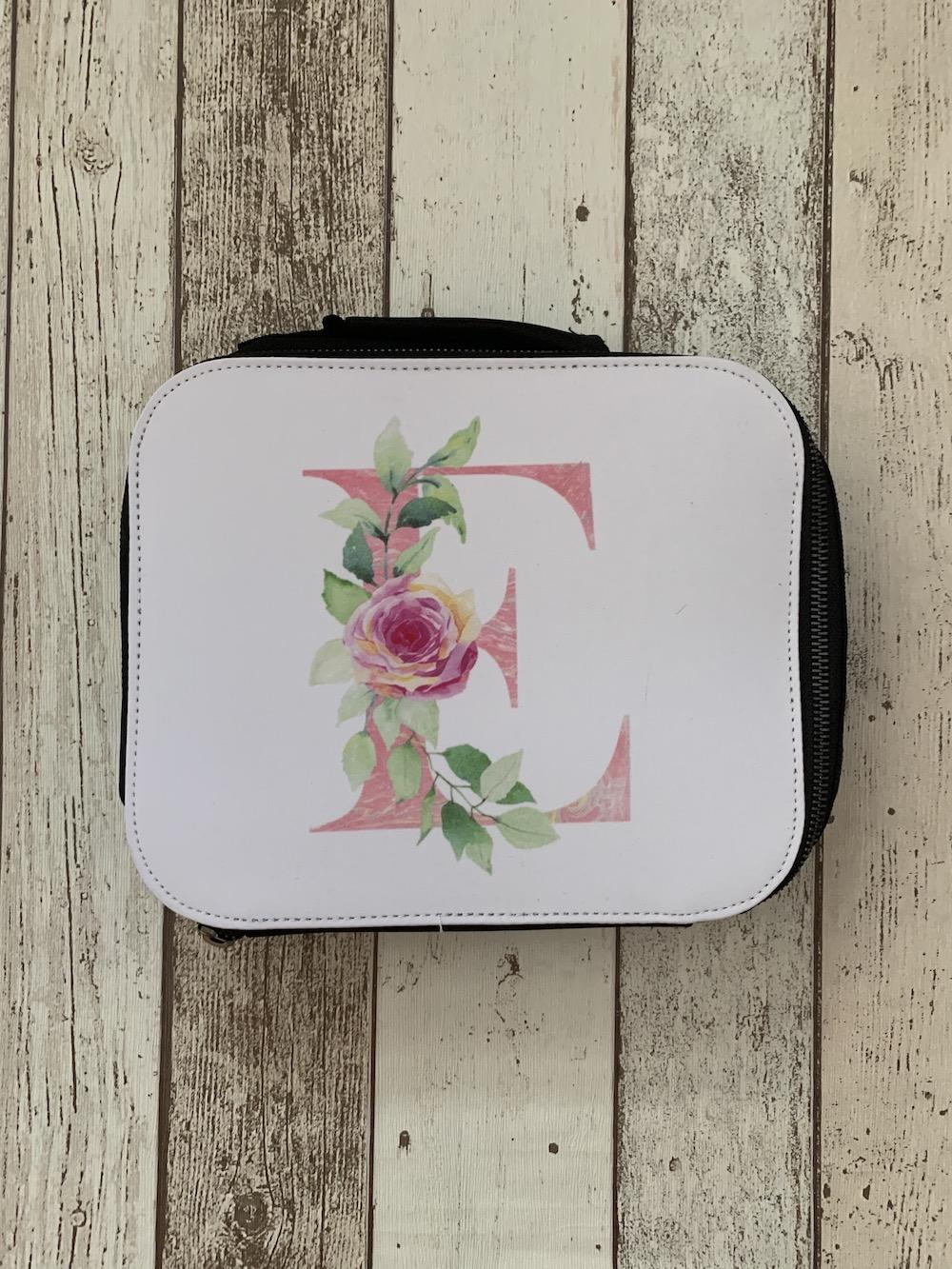Lunch Box – Floral – Letter E