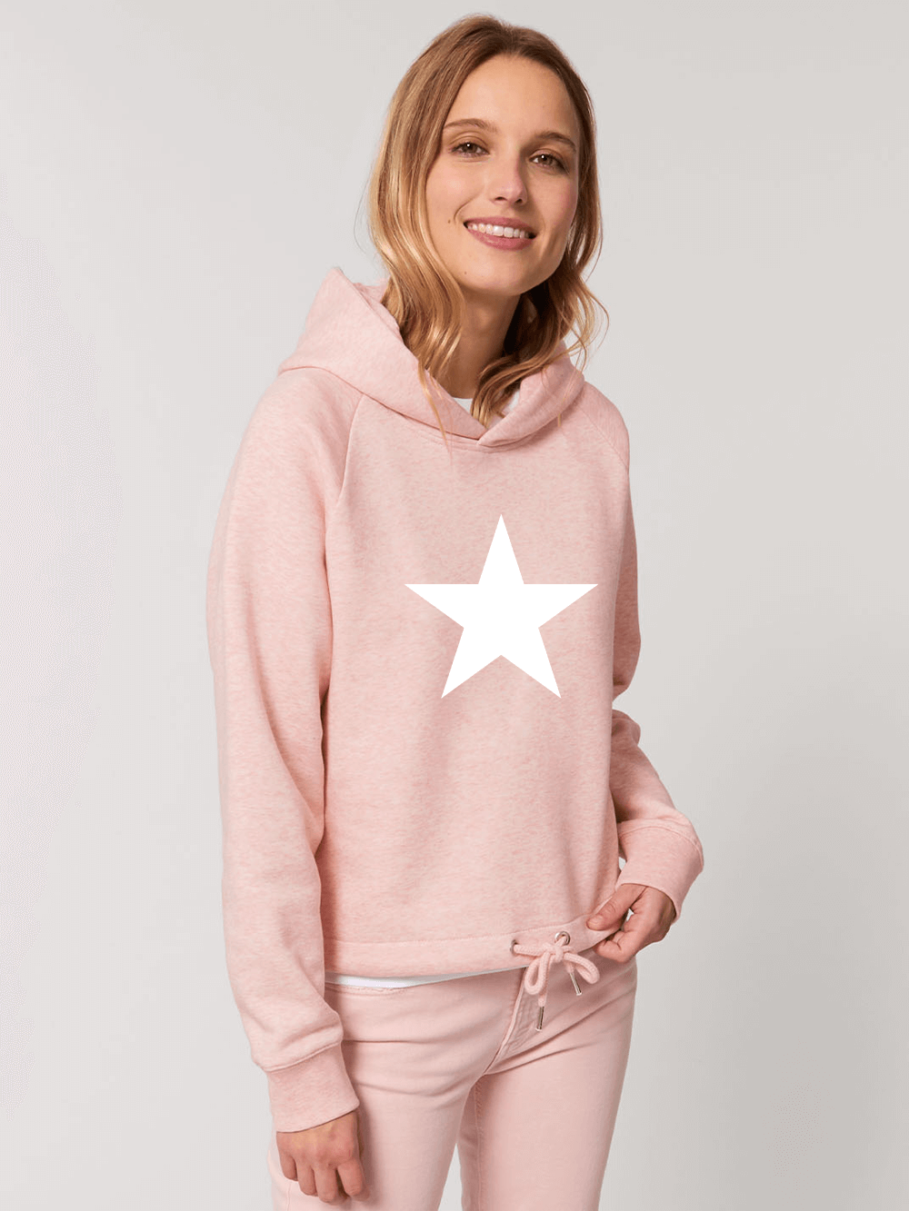Star – Drawcord Hooded Jumper – Pink