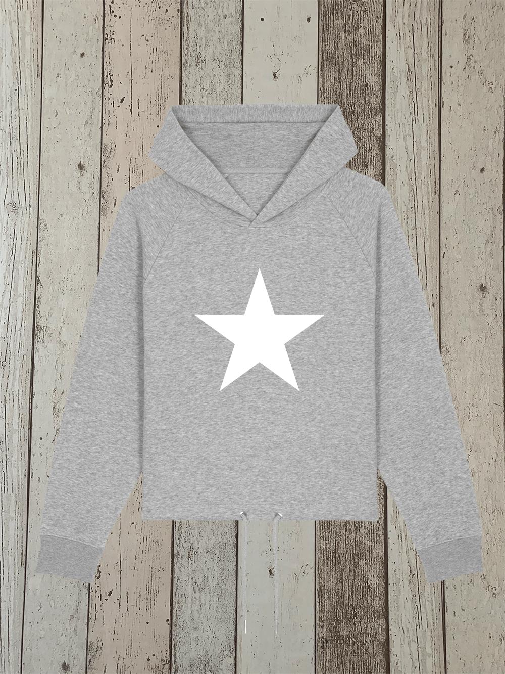 Star – Drawcord Hooded Jumper – Grey