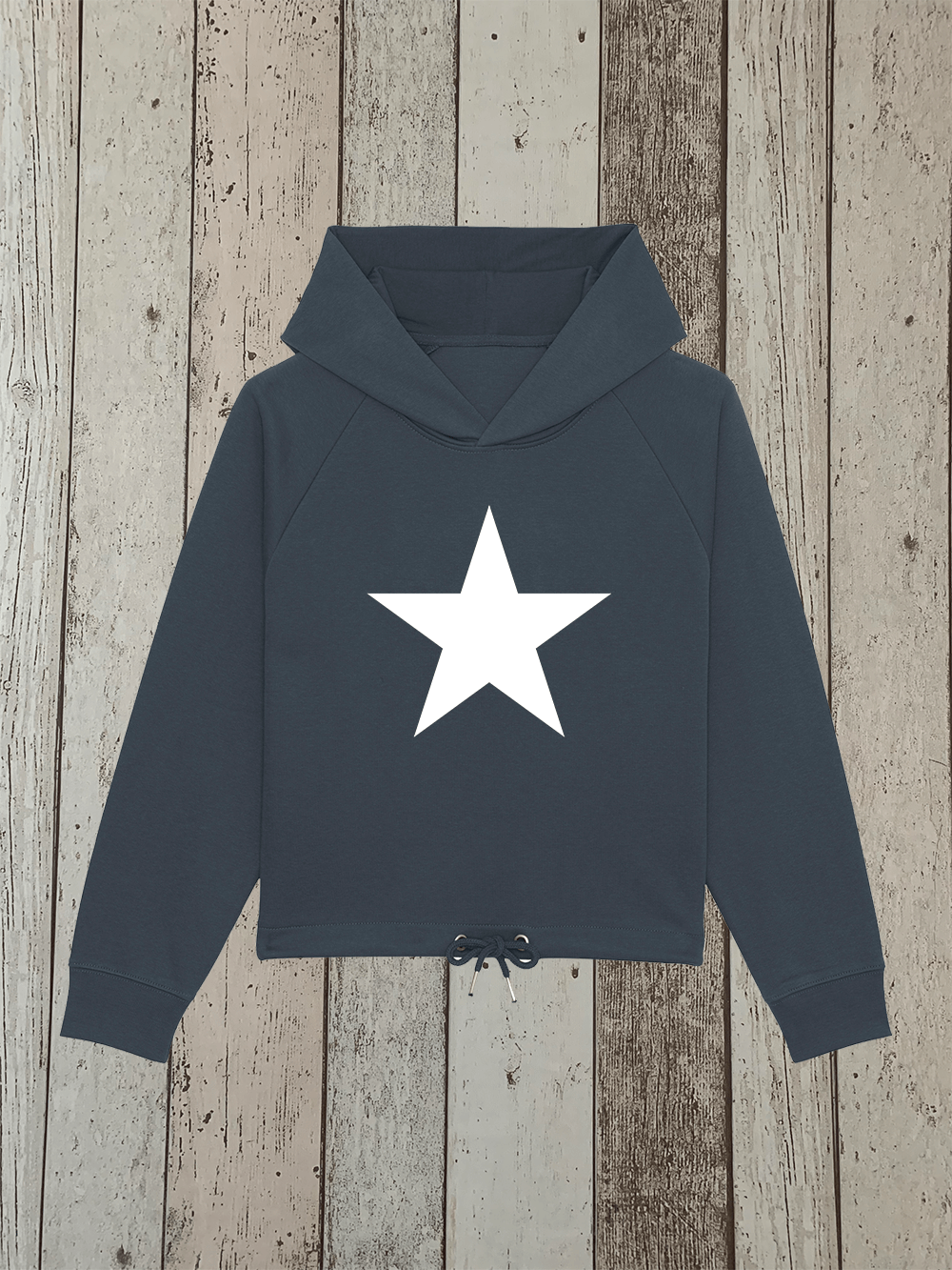 Star – Drawcord Hooded Jumper – Ink