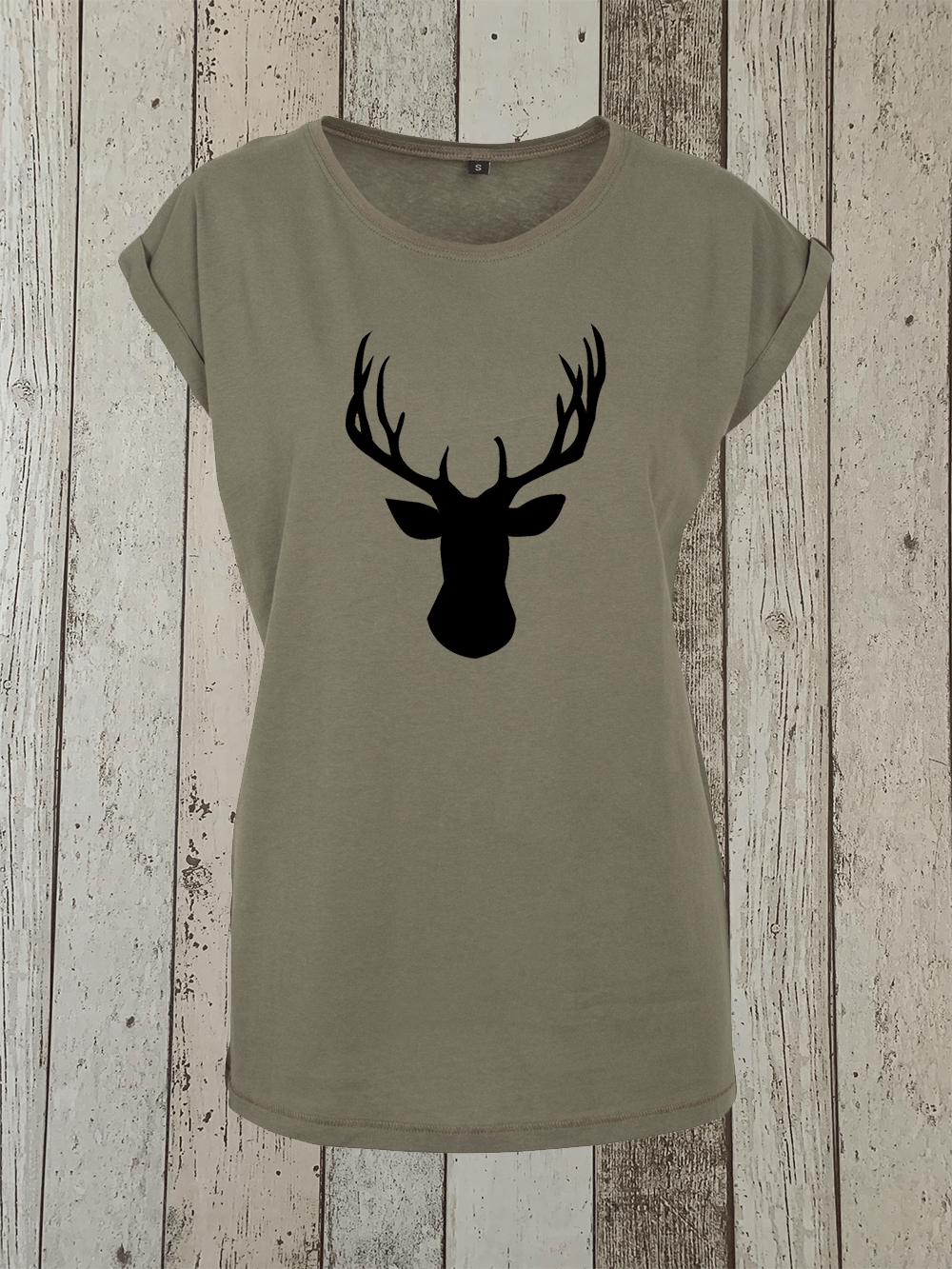 Stag Tshirt – Olive And Black
