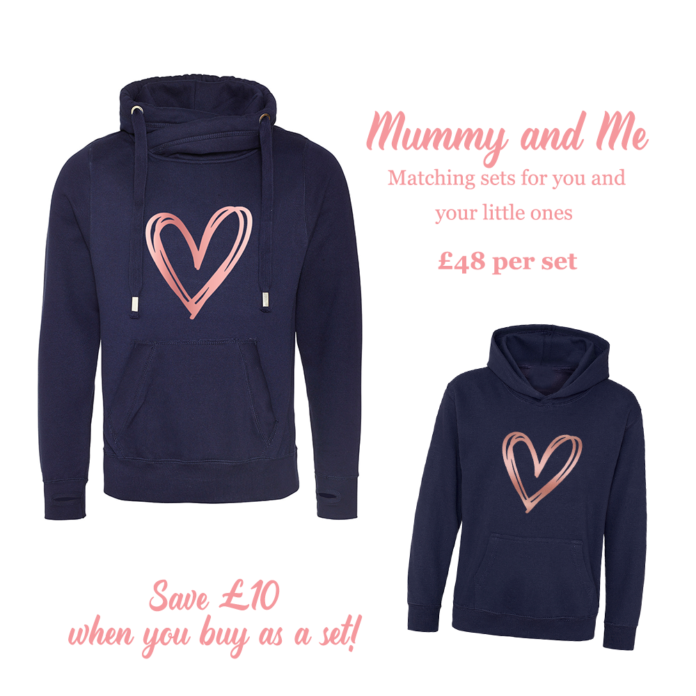 Mummy And Me Matching Set – Navy And Rose Gold